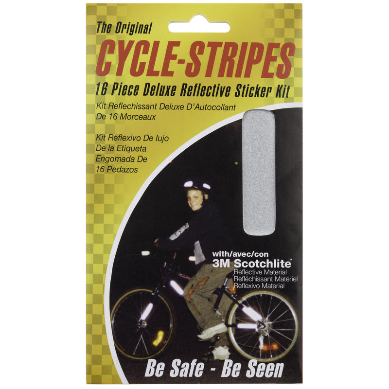 Cycle Stripes Deluxe Scotchlite Sticker Kit