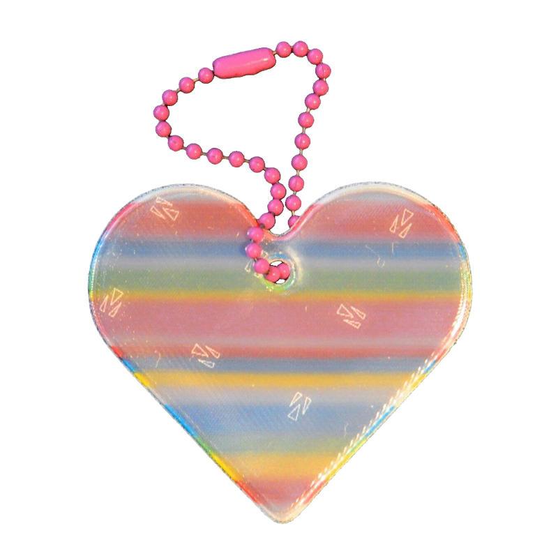 Safety Reflector - Heart Rainbow
