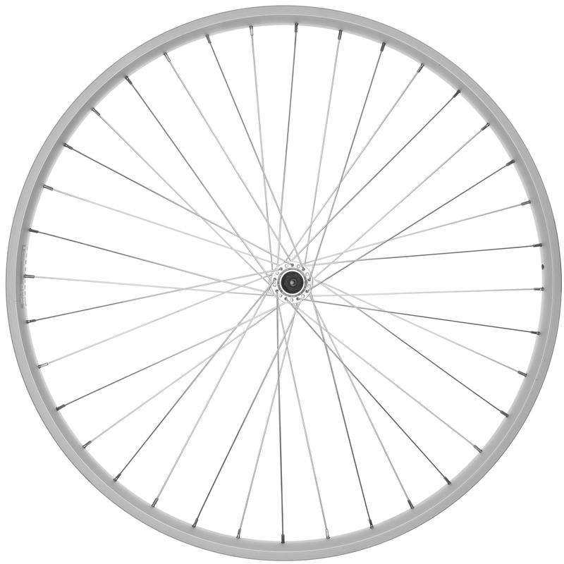 Alloy 27x1-1/4 36H QR Front Wheel Silver/Silver