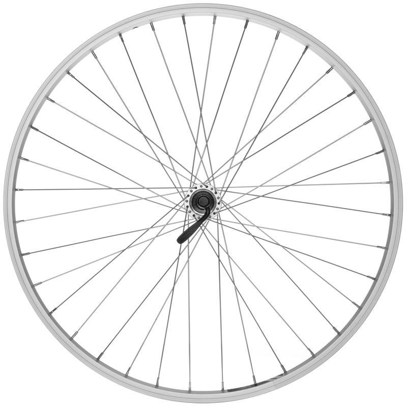 101 26x1.75 36H Altus 8/9 Spd QR Rear Wheel Silver/Silver