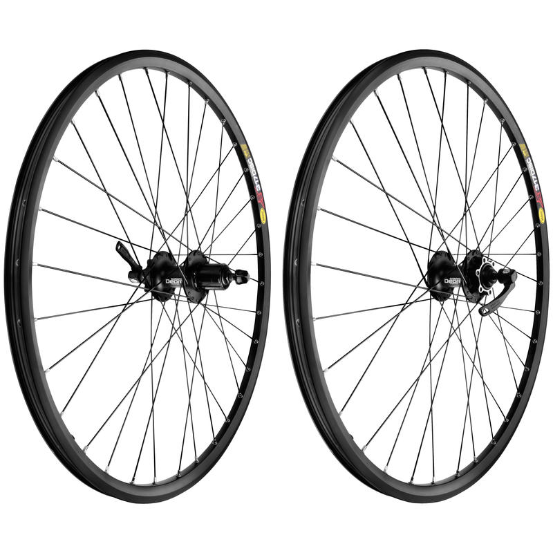 "XM 317 Disc 26"" 32H Deore Wheel Set Black/Black"