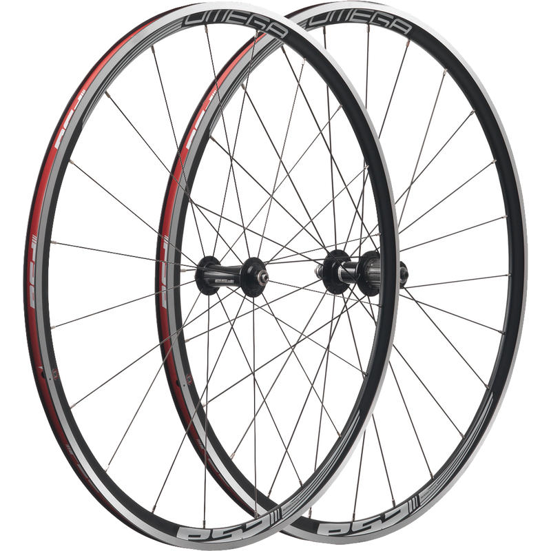 Omega 700c Wheel Set (9/10 Speed) Black/Silver
