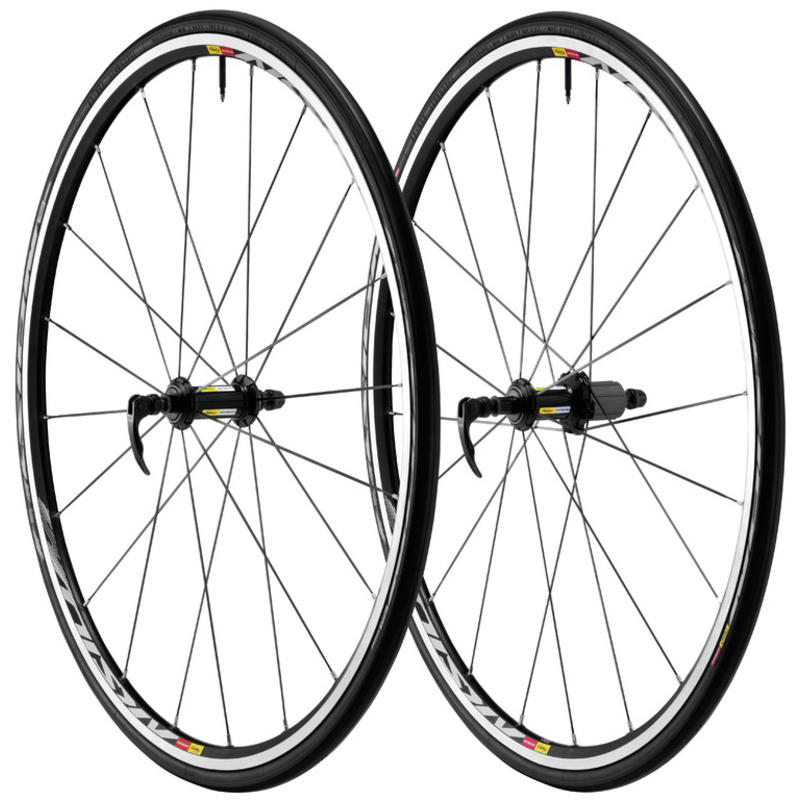 Aksium S Wheelset w/Aksion Tires Black/White