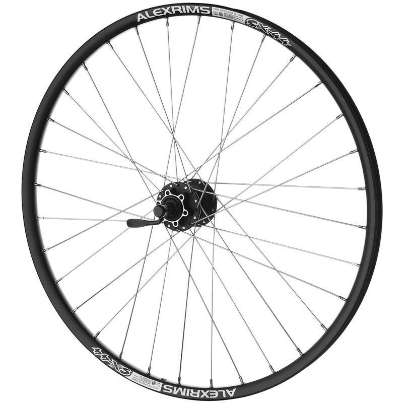 """SX-44 26"""" 32H 8/9 Speed Rear Wheel Black"""