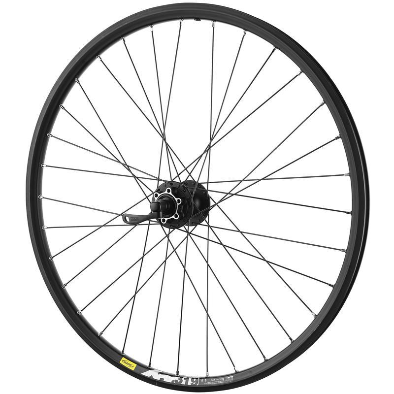 """XM319 26"""" 32H QR Front Wheel Black"""