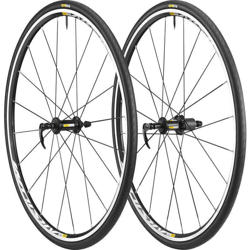 Aksium Elite Wheelset w/ Yksion Elite Guard Tires Black