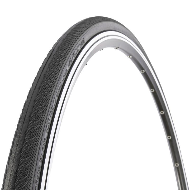 Pneu de vélo à tringle métallique Rubino 700C Noir