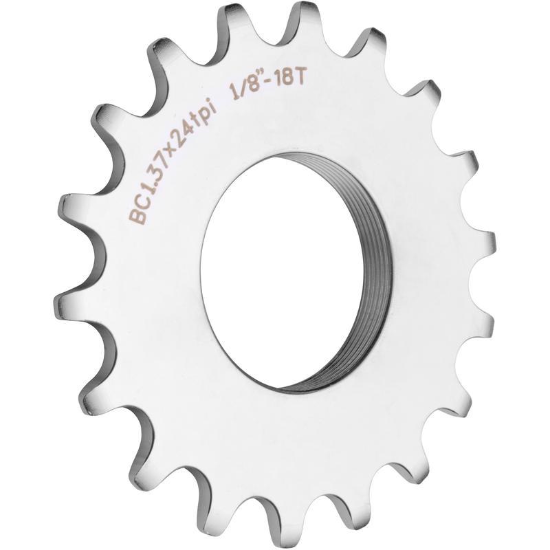 Pignon de vélo fixe 18 dents Argent