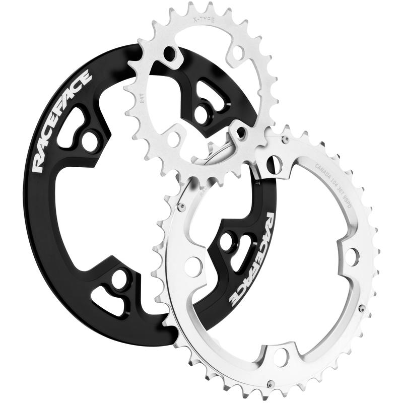 Atlas Chainrings and Bash Guard Set Black