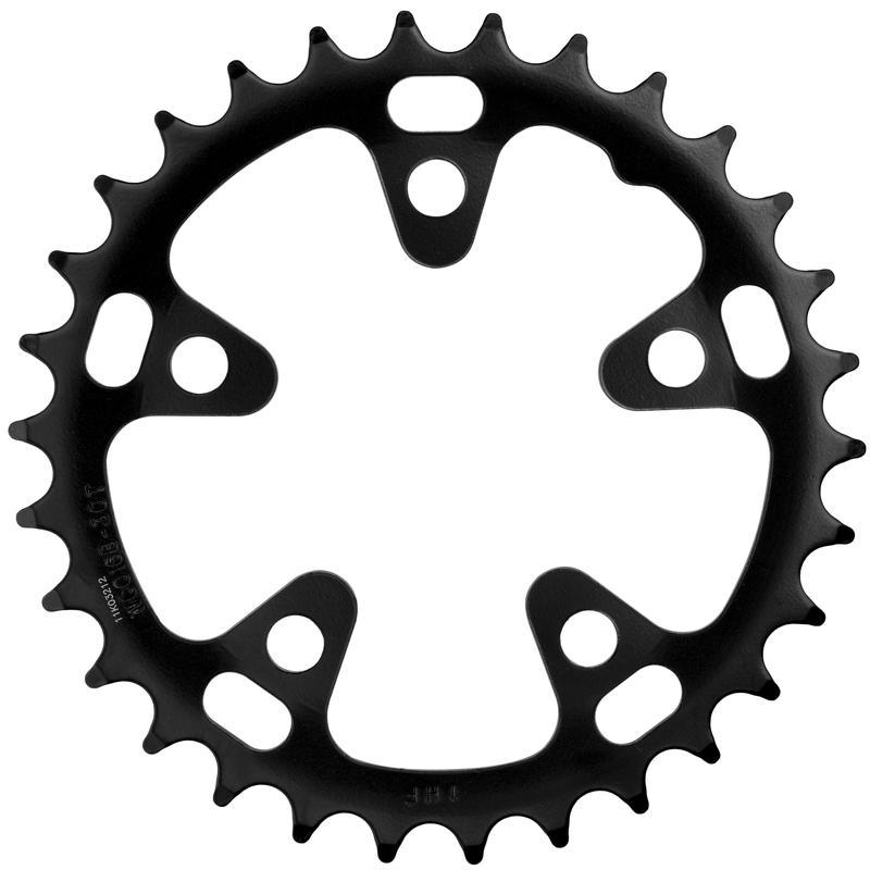 Omega Steel Road Chainring (74mm/5-Bolt) Black