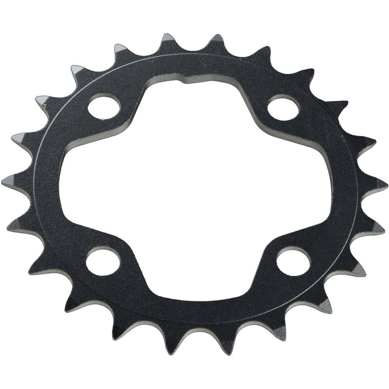 Ride Aluminum Chainring (64mm BCD, 4-Bolt) Black