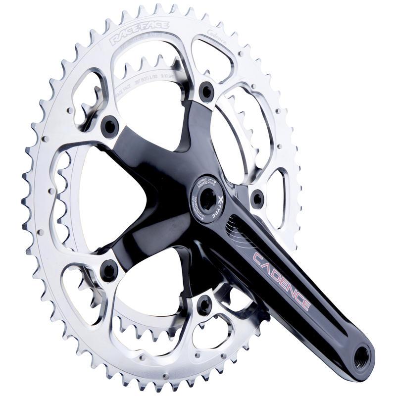 Pédalier de vélo de route Cadence X-Type Noir