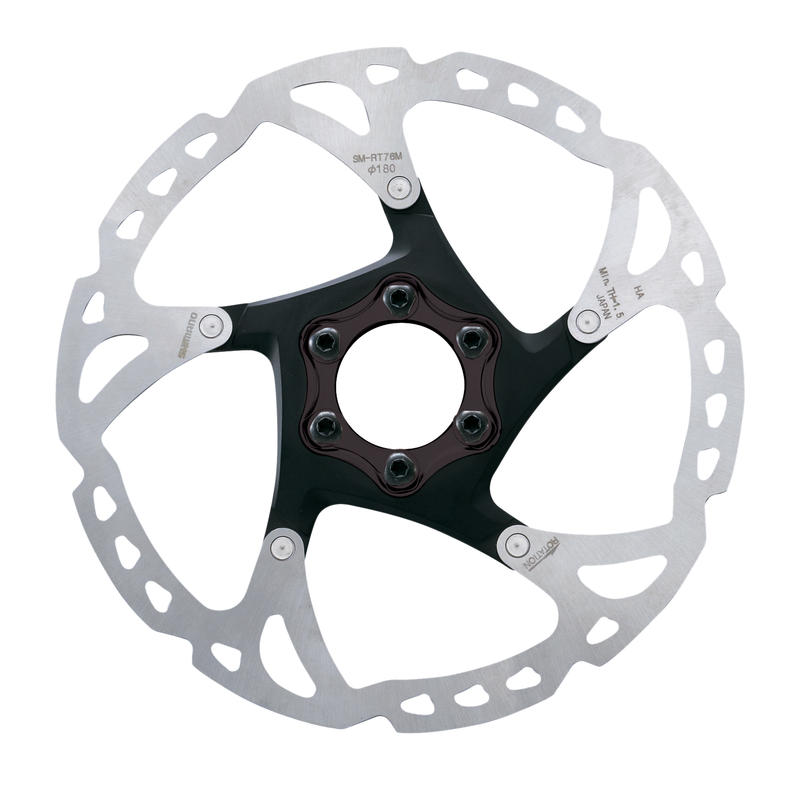 Deore XT SM-RT76 6-Bolt Disc Brake Rotor Silver