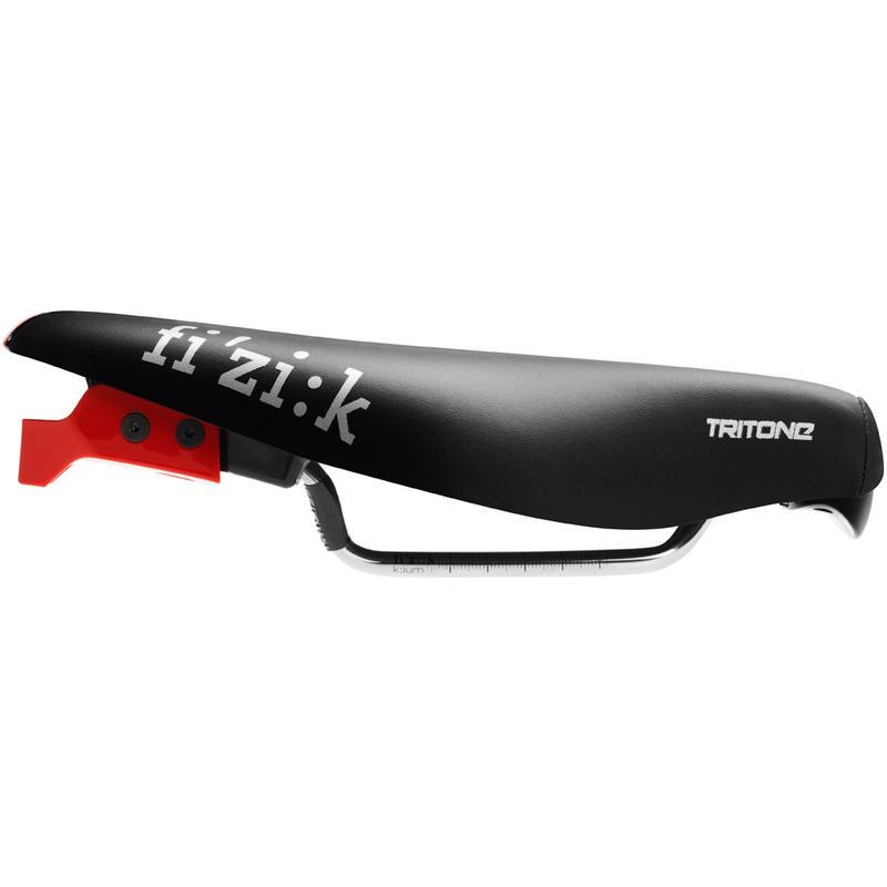 Selle de vélo Tritone 5.5 Kium Noir/Rouge