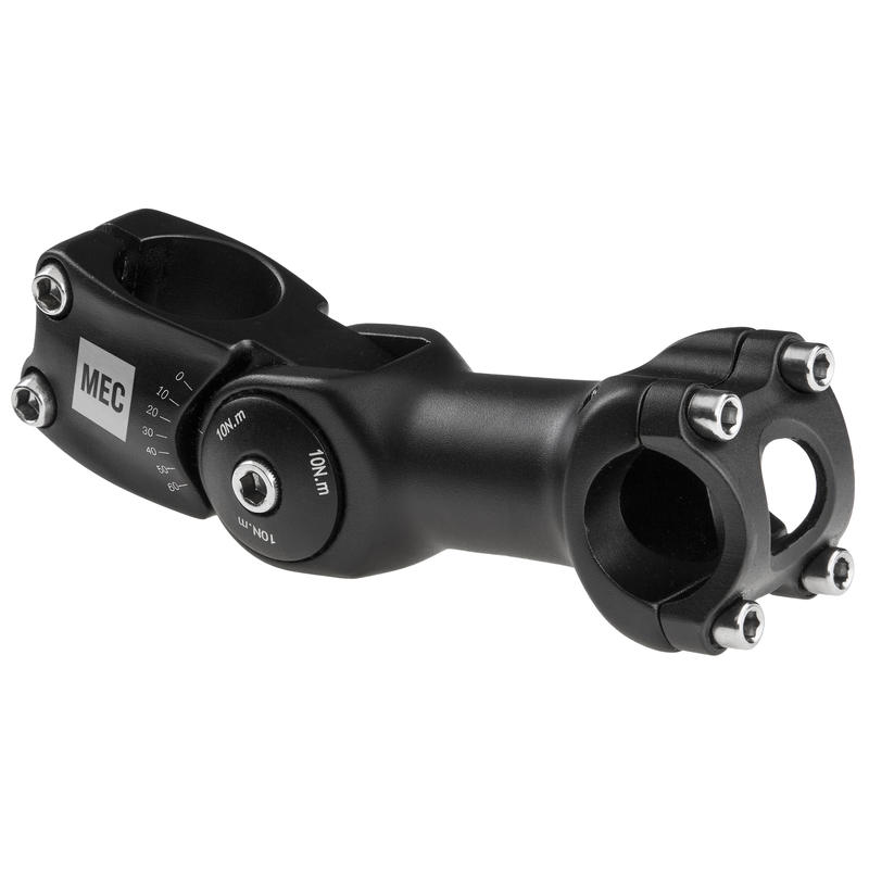 Potence ajustable de 110 mm Noir