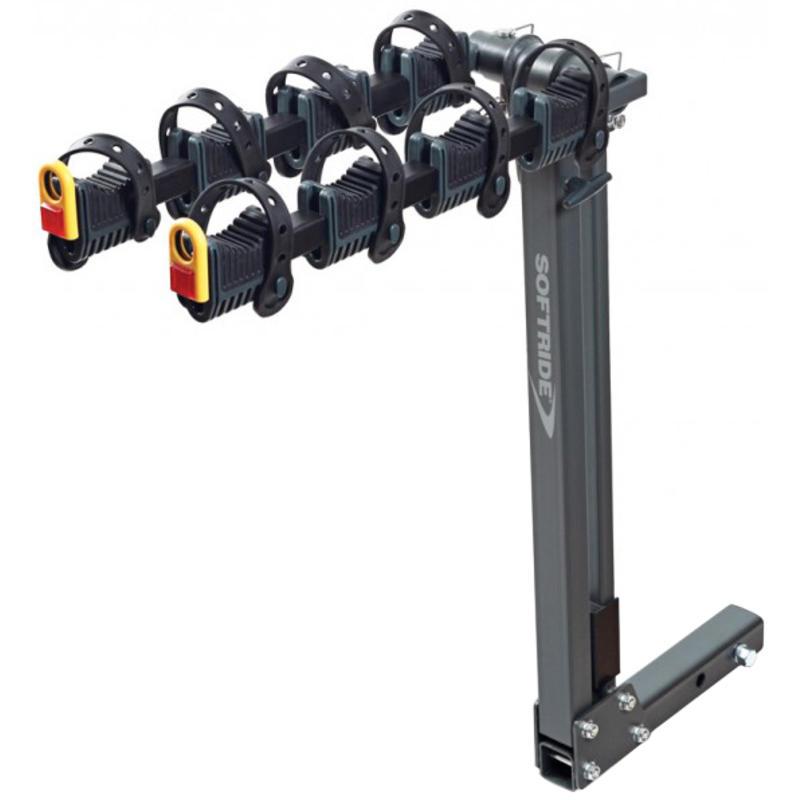 Element 4-Bike Rack - Dual Receiver Black