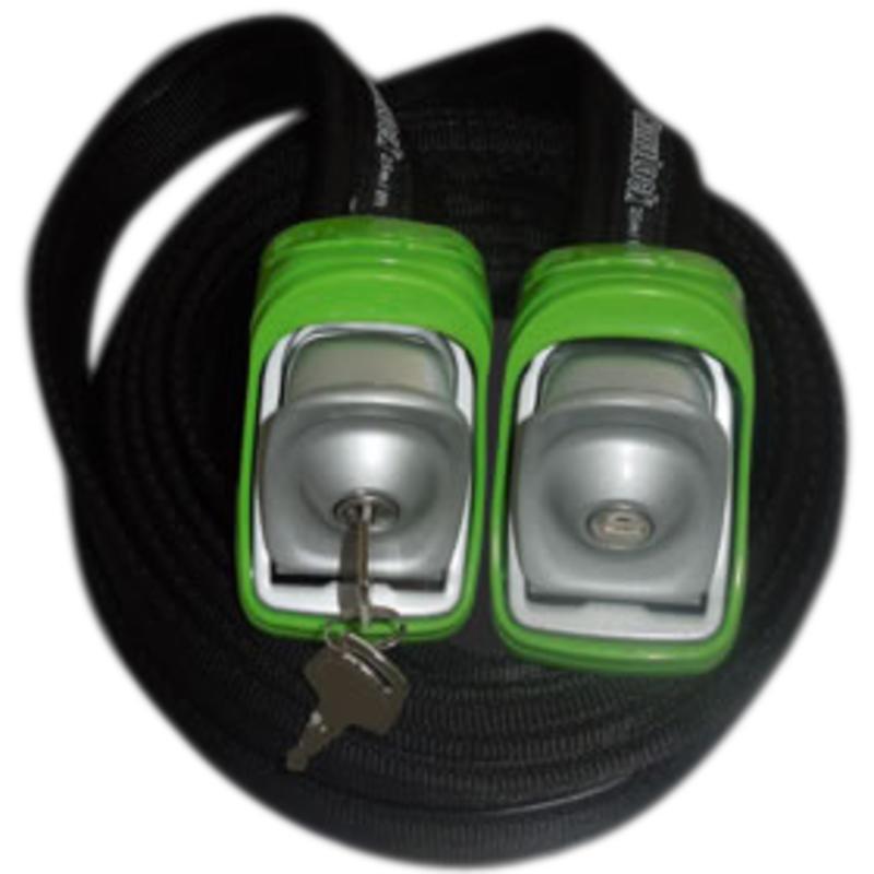 2.3M/7.5ft Locking Tie Down Straps Green