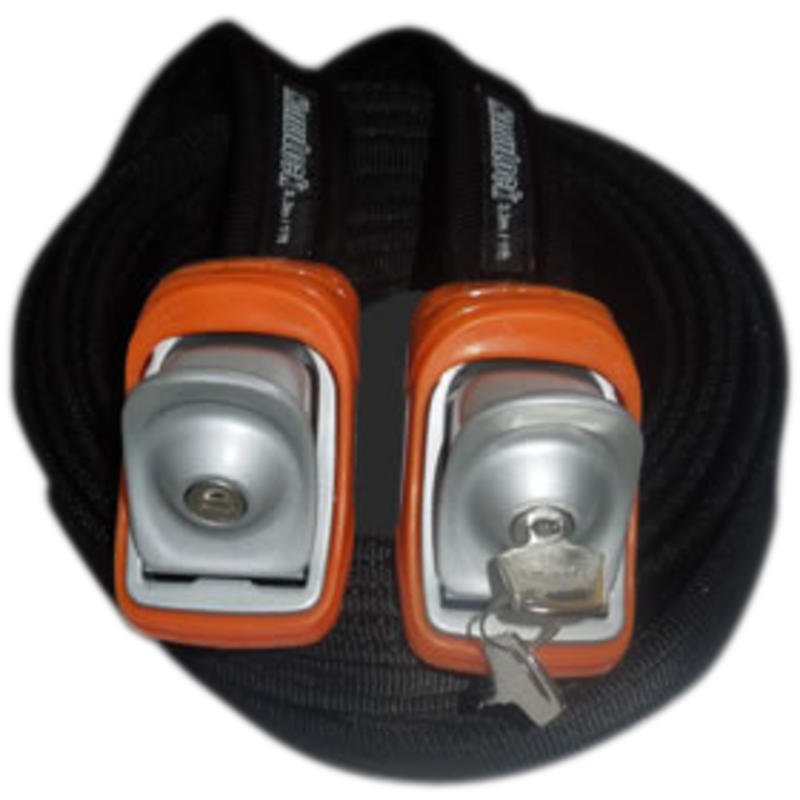 3.3M/11ft Locking Tie Down Straps Orange