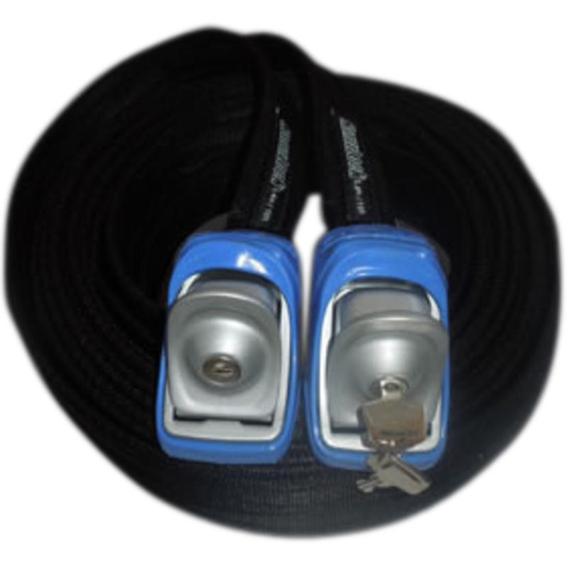 5.4M/17.7ft Locking Tie Down Straps Blue