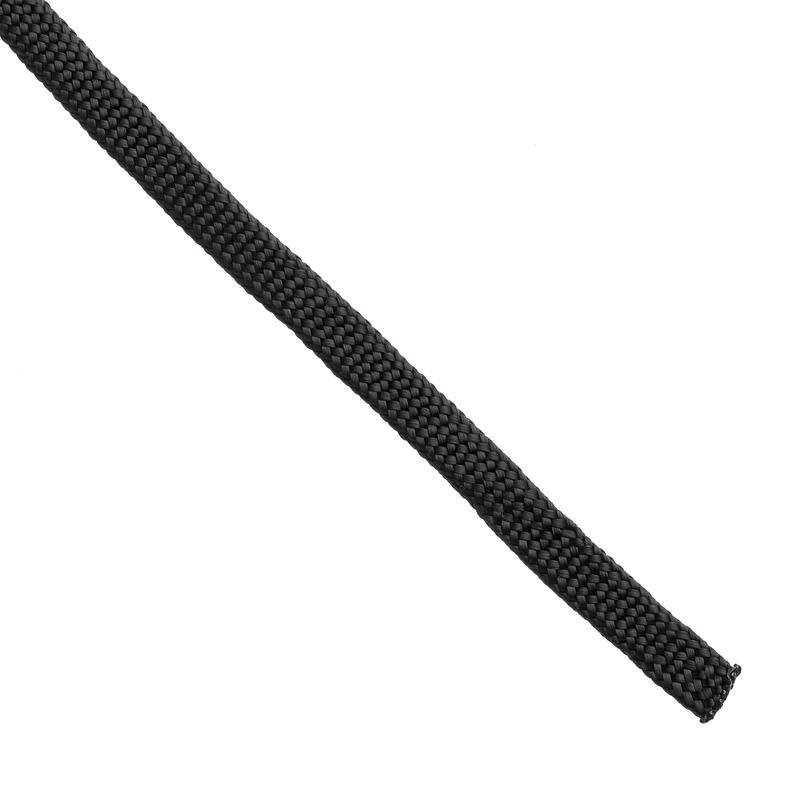 Lacet plat en nylon de 5 mm Noir