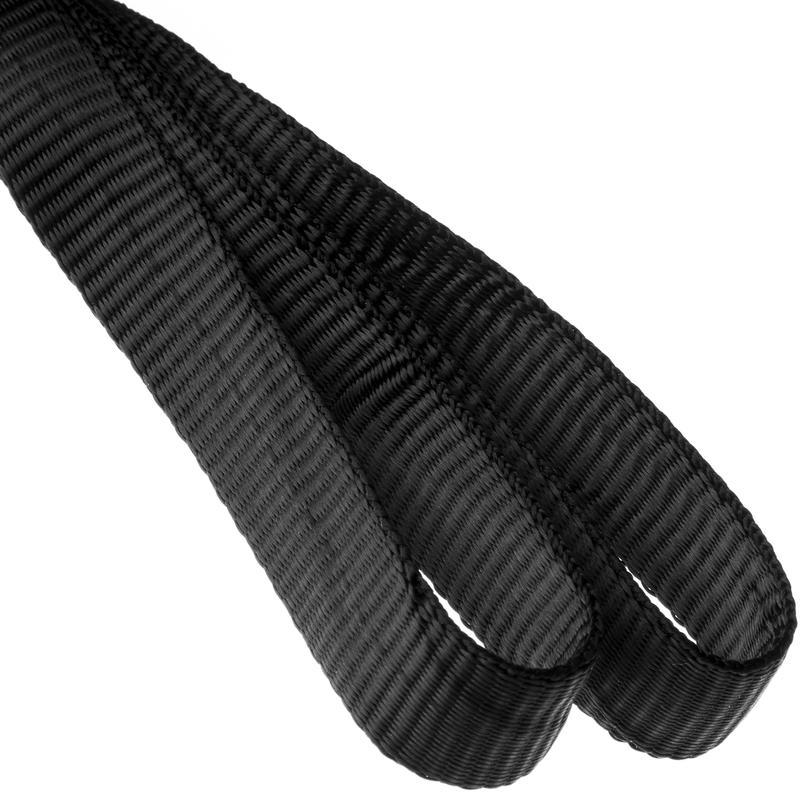 """1/2"""" (12.7mm) Nylon Tubular Webbing Black"""