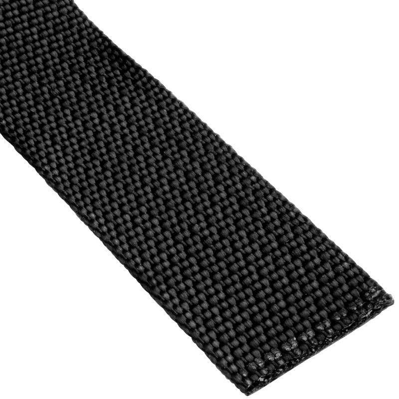"3/4""(19mm) Nylon Flat Accessory Webbing Black"