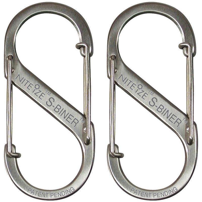 S-Biner Stainless Steel 2-Pack Stainless Steel