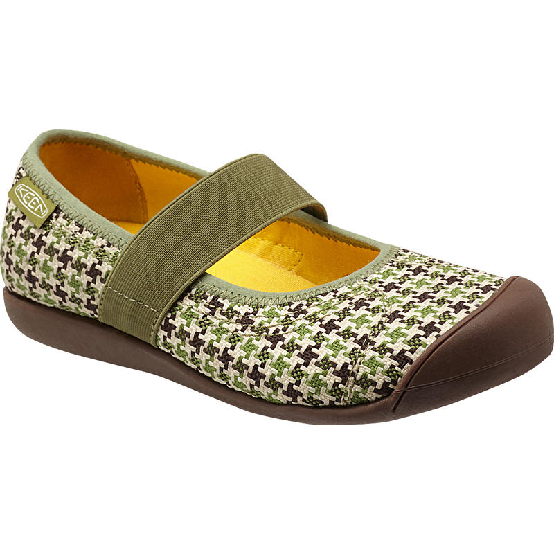 Sienna Mary Jane Canvas Shoes Loden Print
