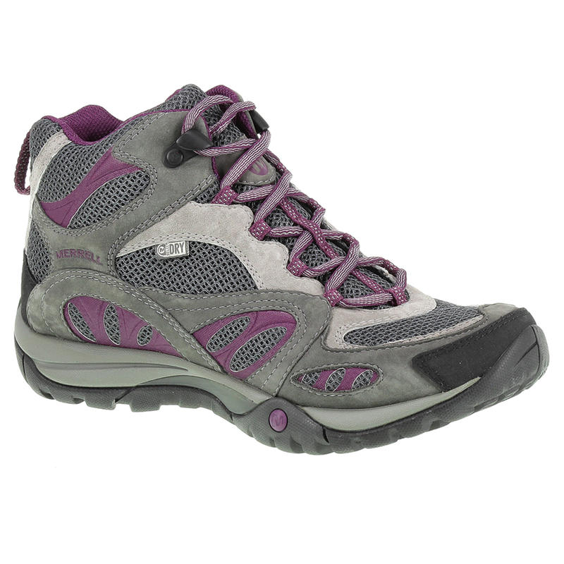 Azura Mid Waterproof Light Trail Shoes Castle Rock/Purple