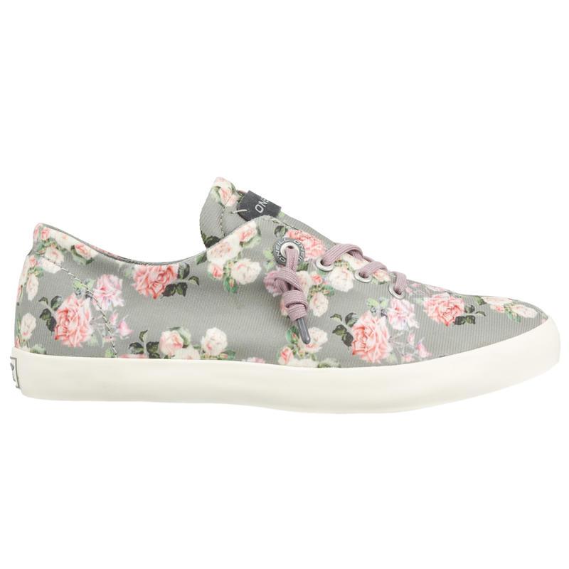 Guapa Low AOP Shoes Metal Grey Roses