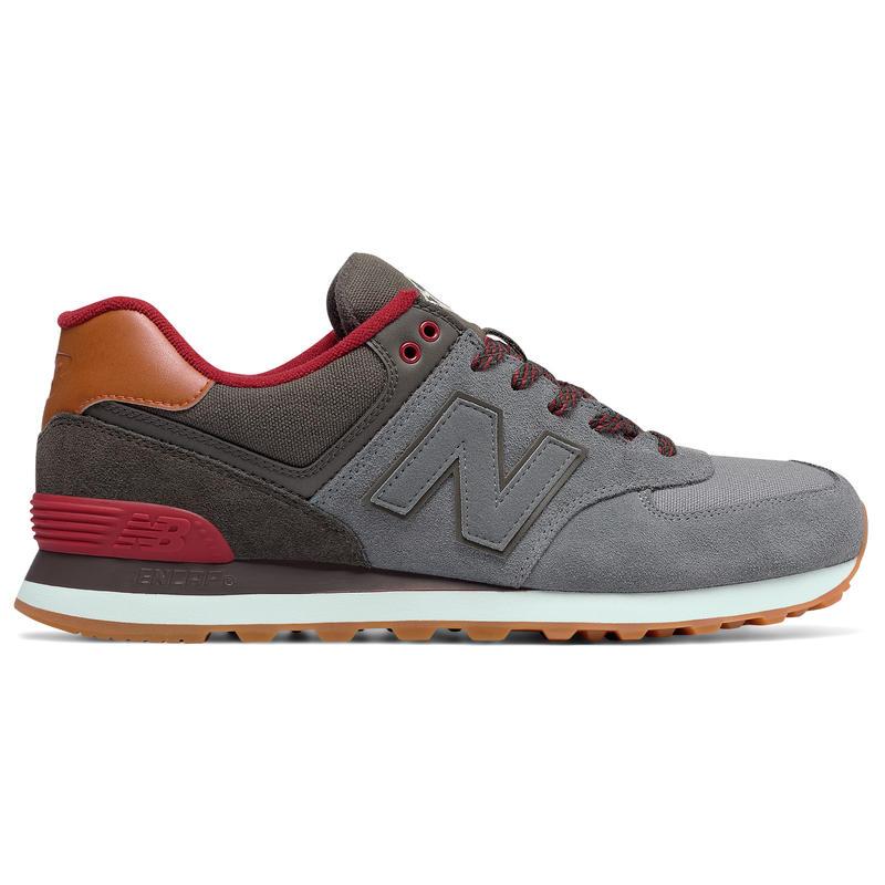 574 Shoes Gunmetal/Red