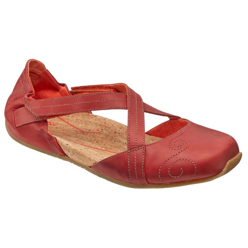 Chaussures en cuir Karma Latitude Pierre rouge