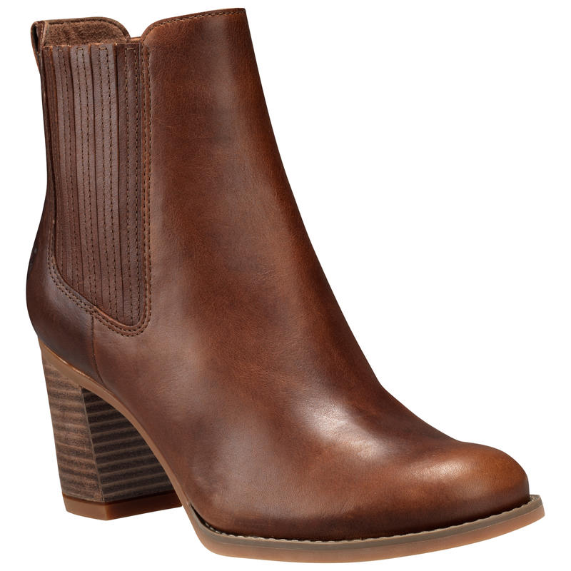 Bottes Atlantic Heights Covered Gore Chelsea Fossile/Pluie pourpre
