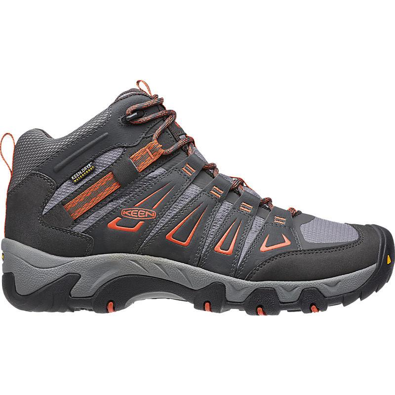 Chaussures de randonnée imperméables Oakridge Mid Corbeau/Ocre brûlé