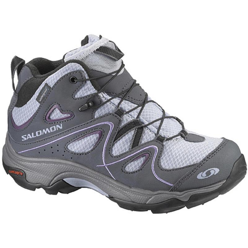 Chaussures mi-hautes Trax WP pour enfants Ciment bleu-X