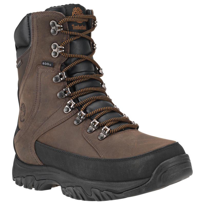 "Thorton 8"" Insulated Waterproof Winter Boots Dark Brown"