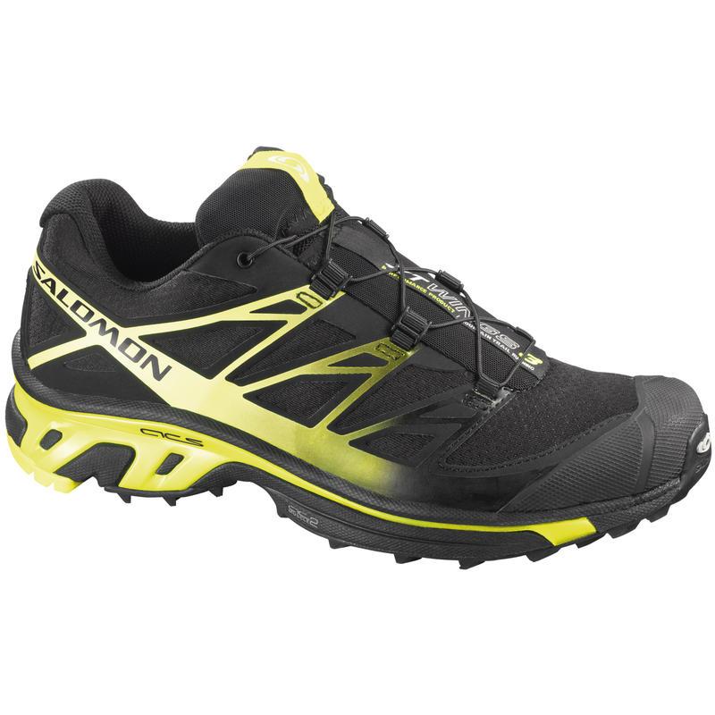Chaussures de course sur sentier XT Wings 3 Noir/Jaune fluorescent