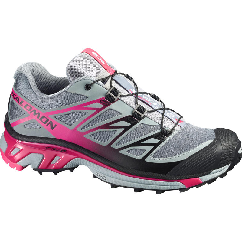 XT Wings 3 Trail Running Shoes Pearl Grey/Hot Pink