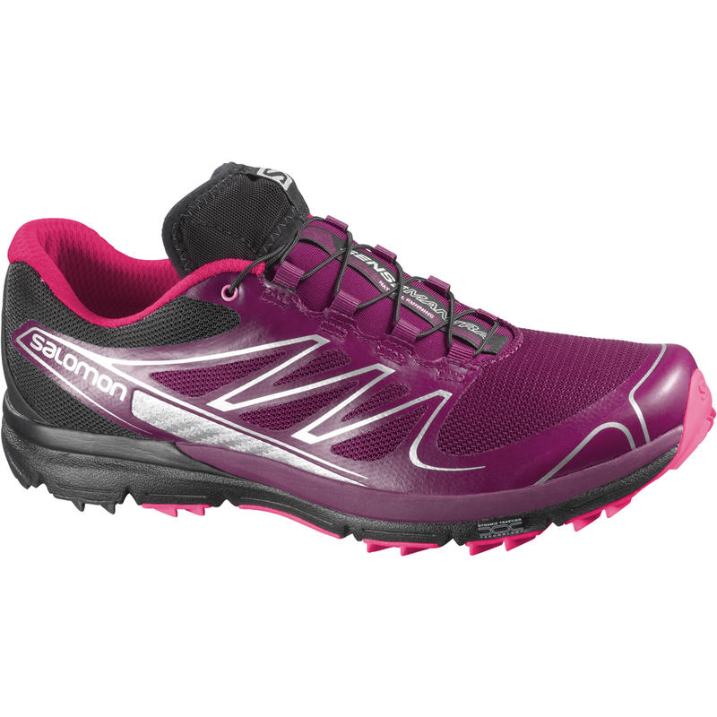 Chaussures de course sur sentier Sense Pro Pourpre mystique/Rose fluorescent