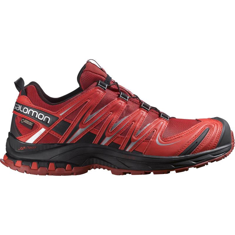 Chaussures de course sur sentier XA Pro 3D GTX Puce/Rouge vif