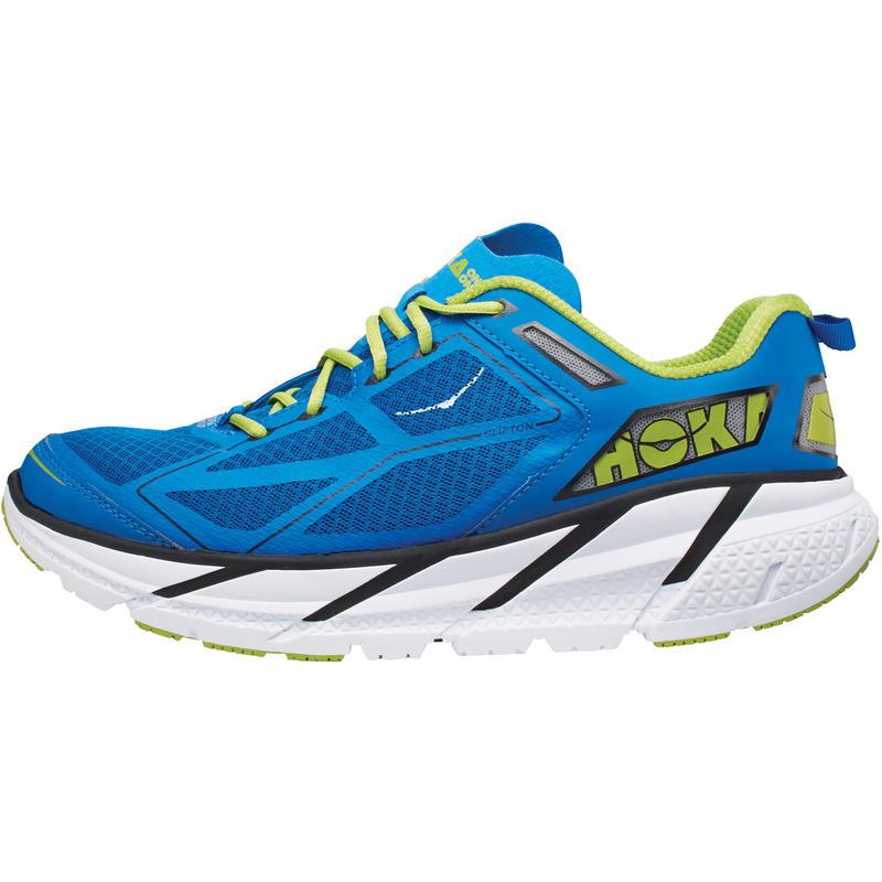 Chaussures de course sur route Clifton Bleu/Lime