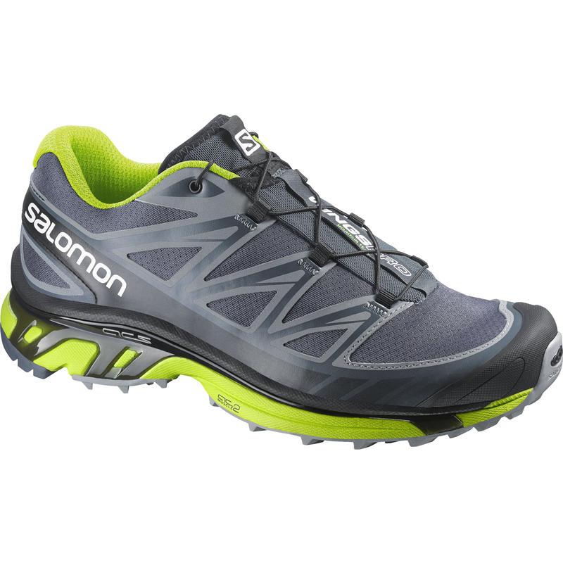 Chaussures de course sur sentier Wings Pro Denim gris/Vert Granny