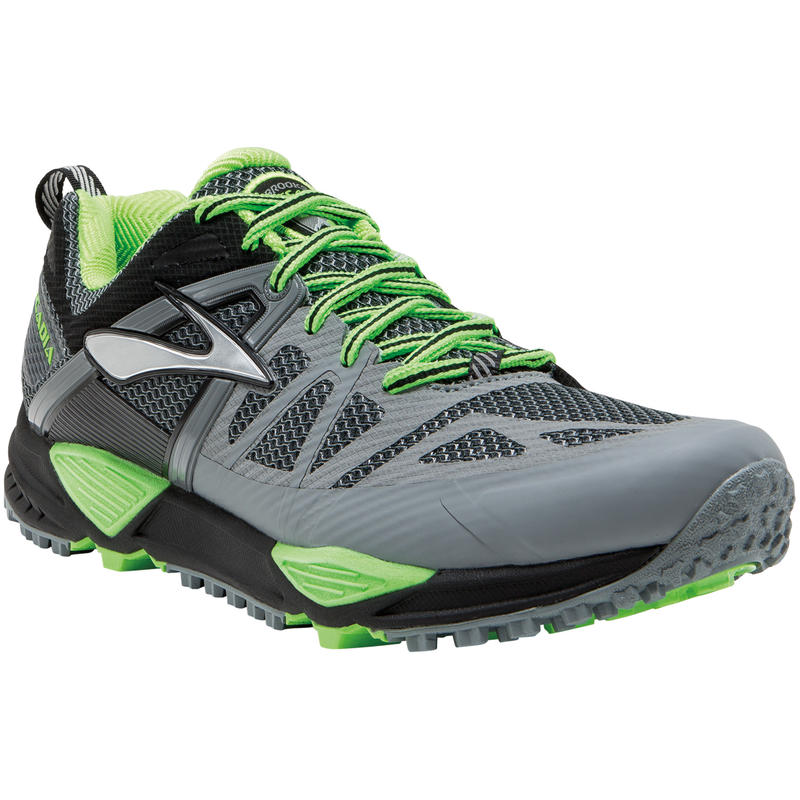 Chaussures de course sur sentier Cascadia 10 Apprêt gris/Vert gecko
