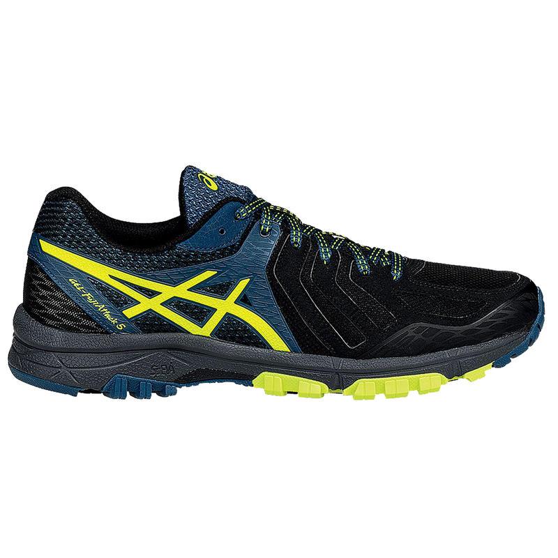 Chaussures de course sur sentier Gel FujiAttack 5 Noir/Jaune flash