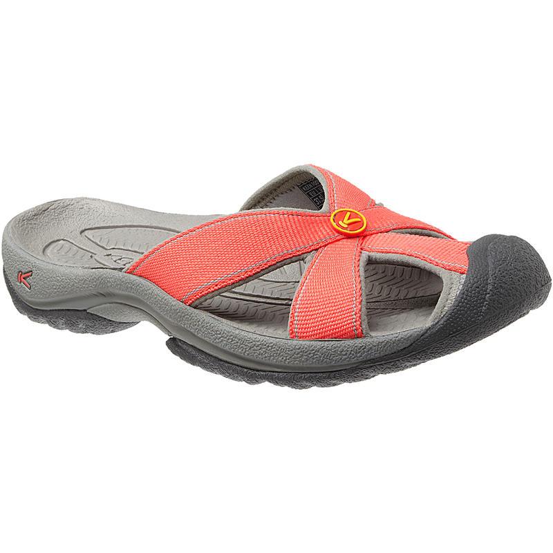 Sandales Bali Corail chaud/Gris neutre