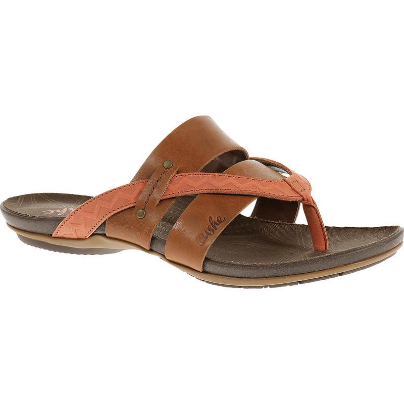 Sandales Radiance Brun roux/Papaye