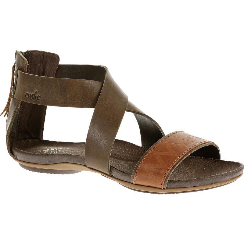 Glimmer Sandals Dark Brown/Tan
