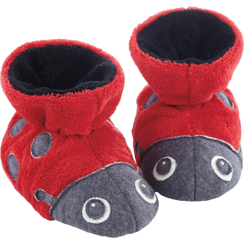 Easy Critter Booties Ladybugs