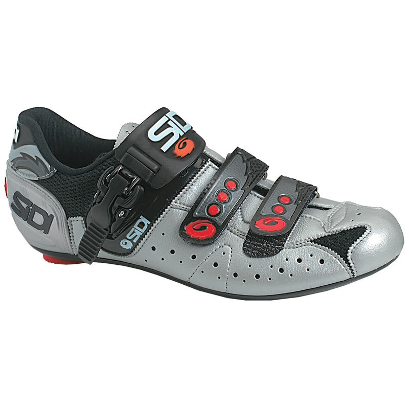 Chaussures de vélo de route Genius Noir/Gris acier2