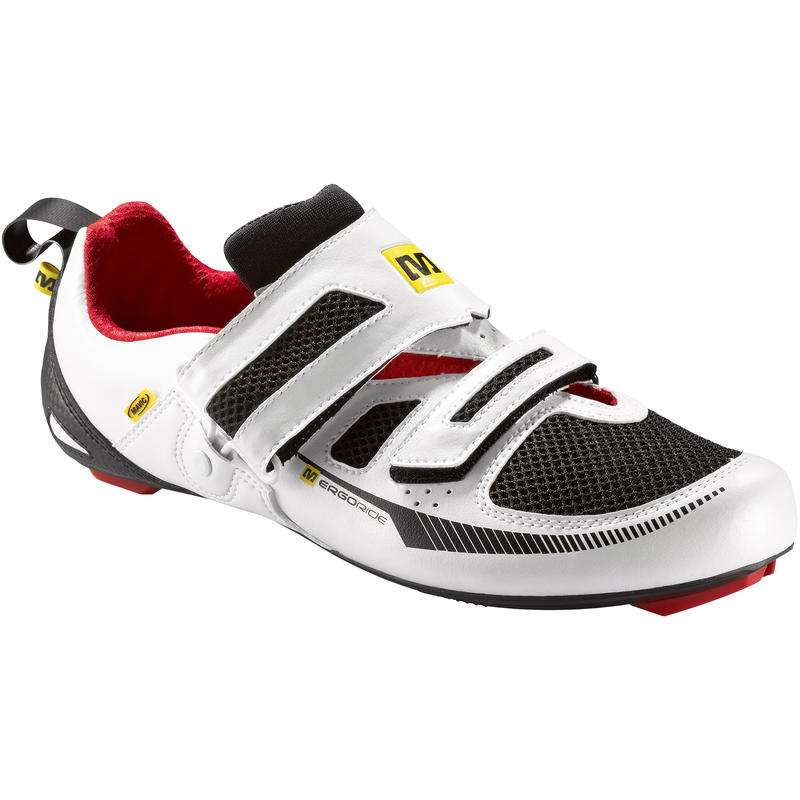 Chaussures de vélo de route Tri Race Blanc/Noir